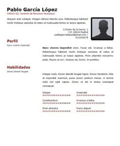 Ejemplo de curriculum vitae para rellenar jpg 247x300